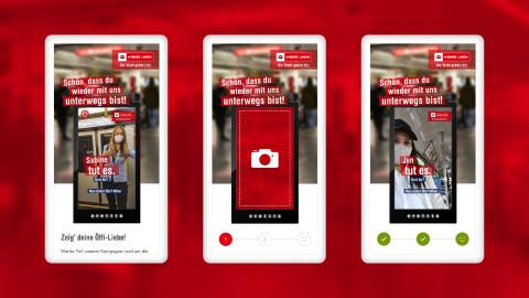 Zeig' deine Öffi-Liebe: Interaktive DOOH-Kampagne bringt Wiener Linien wieder auf Schiene