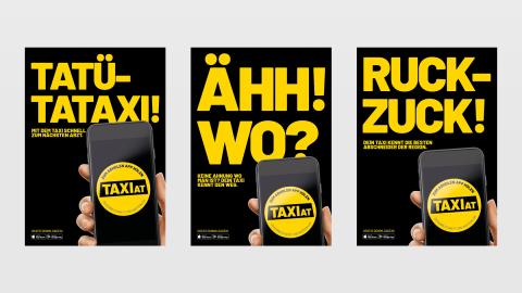 Zum Abholen App holen: Neue App von TaxiAT und 360-Grad-Kampagne