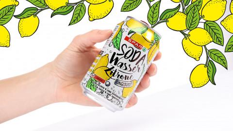 Sodawasser Zitrone