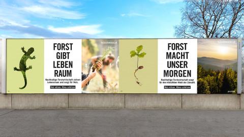 "Holz ist genial. ""Holz nützen. Klima schützen."""