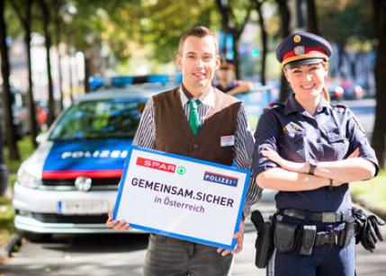 Spar startet Partnerschaft mit der Polizei