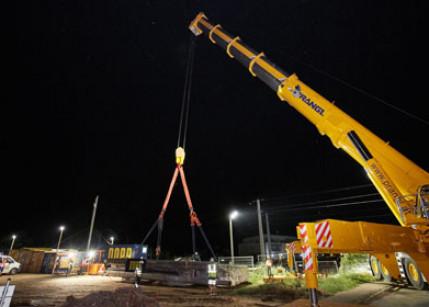 Österreichs stärkster Teleskopkran kam zum Einsatz