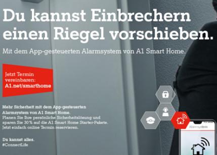 Werbekampagne für das A1 Smart Home Alarm-System