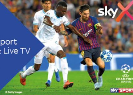 Sky X: Geballtes Sport-Erlebnis zum günstigsten Preis