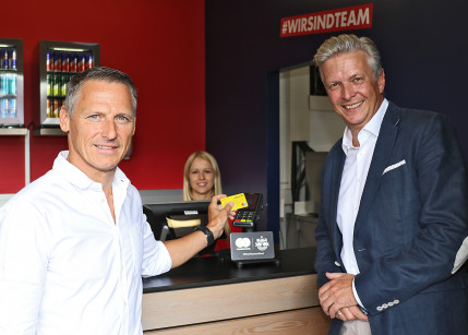 Mastercard macht die Red Bull Arena cashless