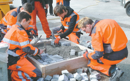 Erfolgreiches Bau-Lehrlings-Casting