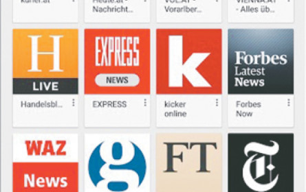 """Kurier"" & Co. im Google-Kiosk"