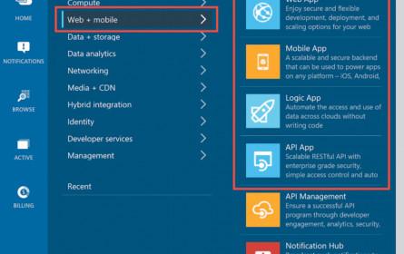 Azure-Service zur Entwicklung von Apps