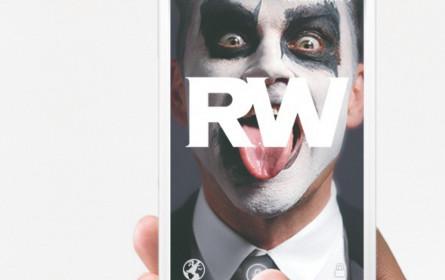 Robbie Williams auf dem Handy-Sperrbildschirm
