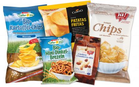Die Chips-Handelsmarken knabbern sich hoch