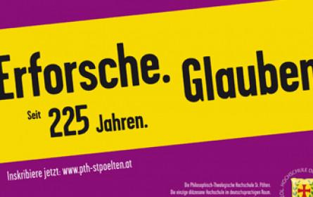 """""""Erforsche.Glauben"""": Plakatkampagne der diözesanen Hochschule"""