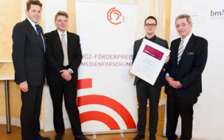 VÖZ vergab zum sechsten Mal Förderpreis Medienforschung