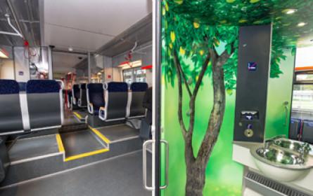 ÖBB-Nahverkehrszüge mit 249 Design-Toiletten ausgestattet