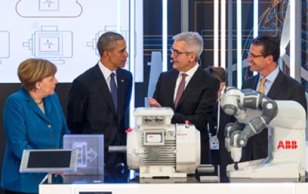 Obama und Merkel auf der Hannover Messe