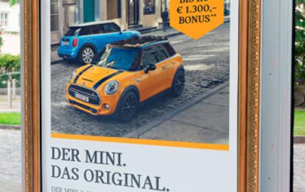 "Epamedia: 1.290 Citylights für Mini-Kampagne ""Der Mini. Das Original."""