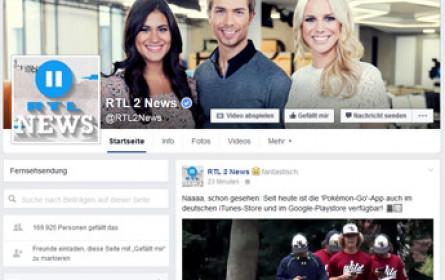 RTL II News: Facebook Live während der Sendung
