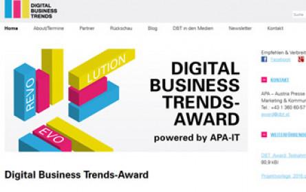 Digital Business Trends-Award: Zukunft gewinnen