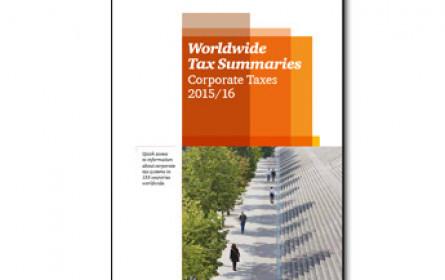Für Steuerexperten: Worldwide Tax Summaries 2016