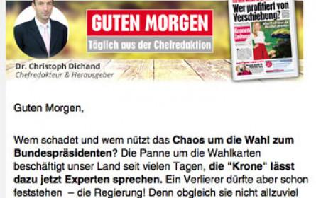 """""""Krone"""" startet Morgen-Newsletter"""