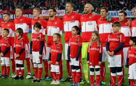 """Elf """"EHL-Kinder"""" unterstützten Österreichs Nationalteam gegen Wales"""