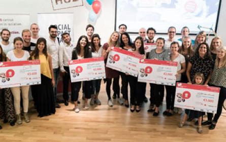 Fünf Ideen wurden beim Social Impact Award ausgezeichnet