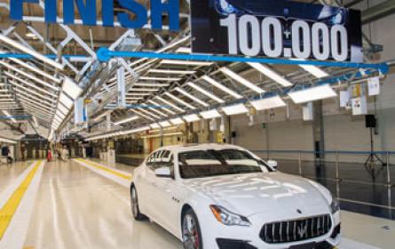 Produktionsjubiläum bei Maserati