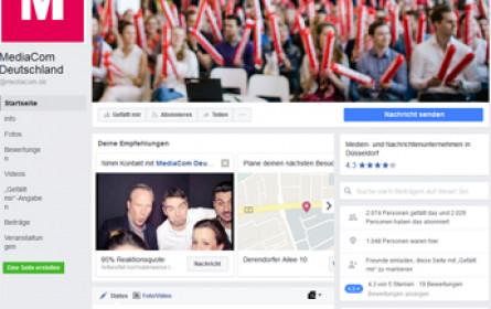 MediaCom Deutschland sucht Mitarbeiter via Facebook