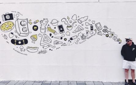 Kunstwerk statt Containerfassade