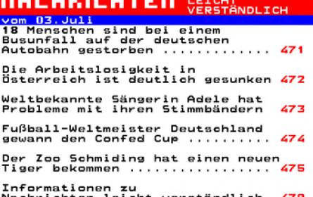 ORF-Teletext bietet ab jetzt leicht verständliche Nachrichten