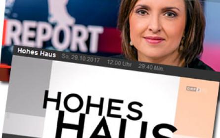 """Der """"Walther Rode-Preis"""" an ORF-Politik-Magazine """"Report"""" und """"Hohes Haus"""""""