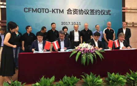 KTM schließt Joint Venture in China ab