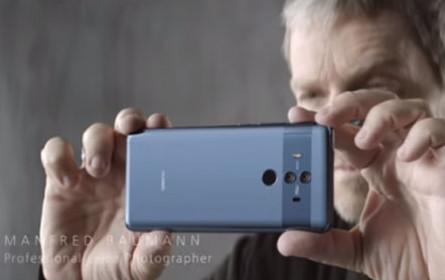 Manfred Baumann fotografiert für die neue Huawei-Kampagne