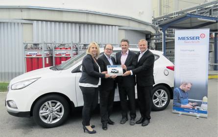 Das 16. Wasserstoffauto in Österreich