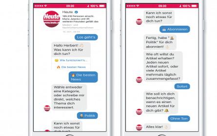 """News-Update per Chatbot bei """"Heute"""""""
