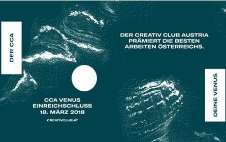 CCA-Venus 2018: Creativ Club Austria lädt zum Einreichen ein