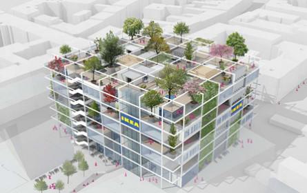 Ikea beim Westbahnhof nimmt Gestalt an