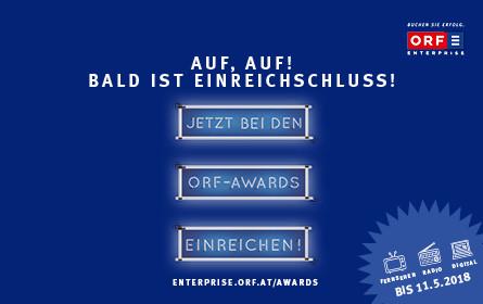 ORF-AWARDS: Die Uhr für strahlende Gewinner/innen tickt