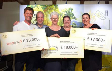 Charity-Heuriger von WineAid brachte 54.000 Euro an Spenden