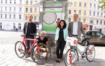 Neue Radservicestationen für Wien