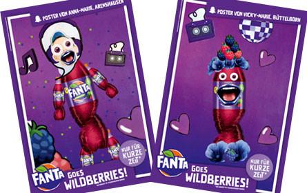 Coca-Cola feiert die Sommersorte Fanta Wildberries mit Plakatmotiven von Teenagern