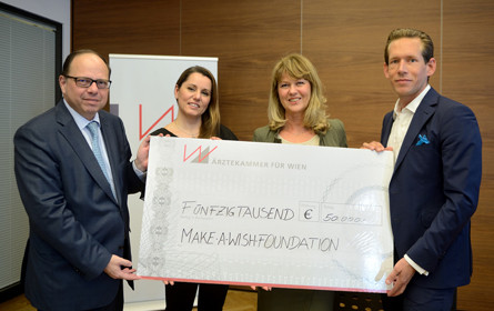 Ärzteball spendet 50.000 Euro an Make-A-Wish Foundation