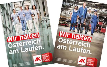 Neue Kampagne der AK: Arbeit verdient mehr Respekt!