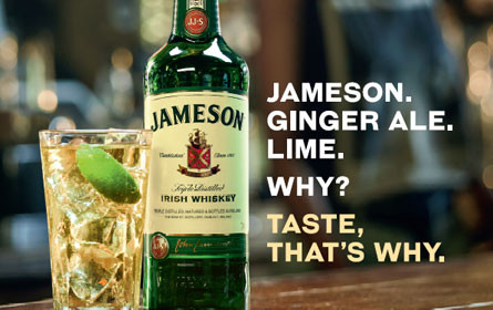 Jameson Irish Whiskey mit Drink-Awareness-Kampagne am Citylight