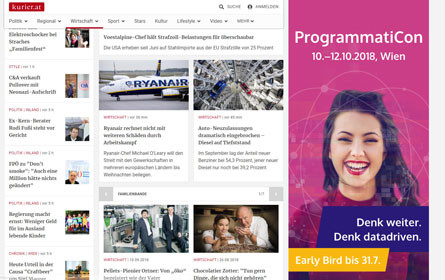 Erste Sitebar via Programmatic Audience Guaranteed präsentiert von e-dialog und kurier.at