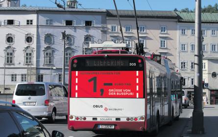 Salzburg AG grüßt von der Bus-Spur
