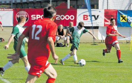 Positiver Spirit mit Fußball