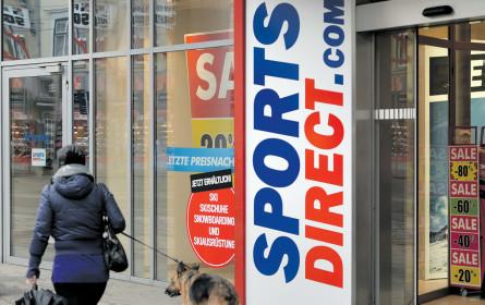 Sports Direct hält Turbulenzen aus