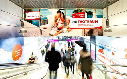 Austrian Airlines mit Punktlandung auf der Ferienmesse