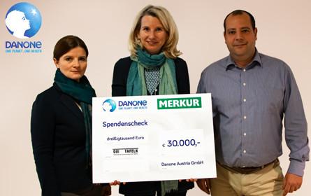 Danone spendet 30.000 Euro an die österreichischen Tafeln