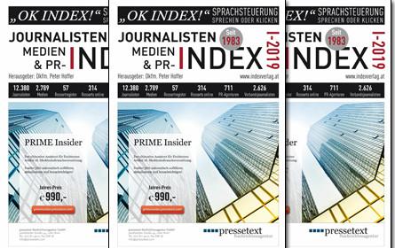 Journalisten-, Medien- & PR-Index 2019 erschienen